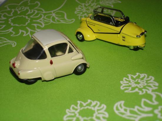 Messerschmitt KR175 et BMW miniatures