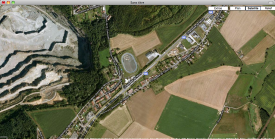 Vue d'avion par Google Maps